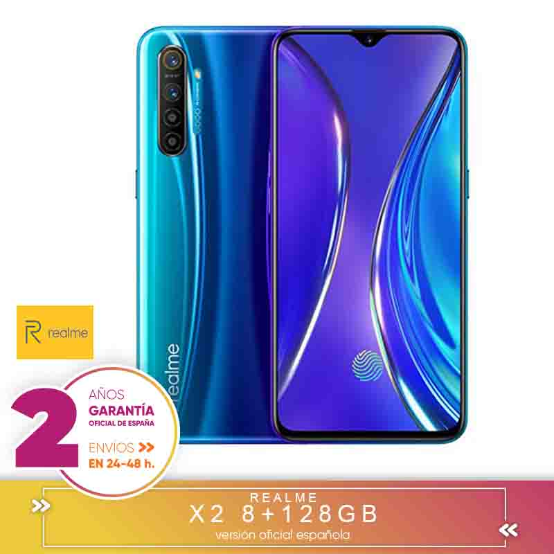 [Official Spanish Version Warranty] Realme X2 Smartphone Phone, 8 Gb Ram 128 Gb ROM 6,4 ''Snapdragon 730G 64MP Camera VOOC 30W