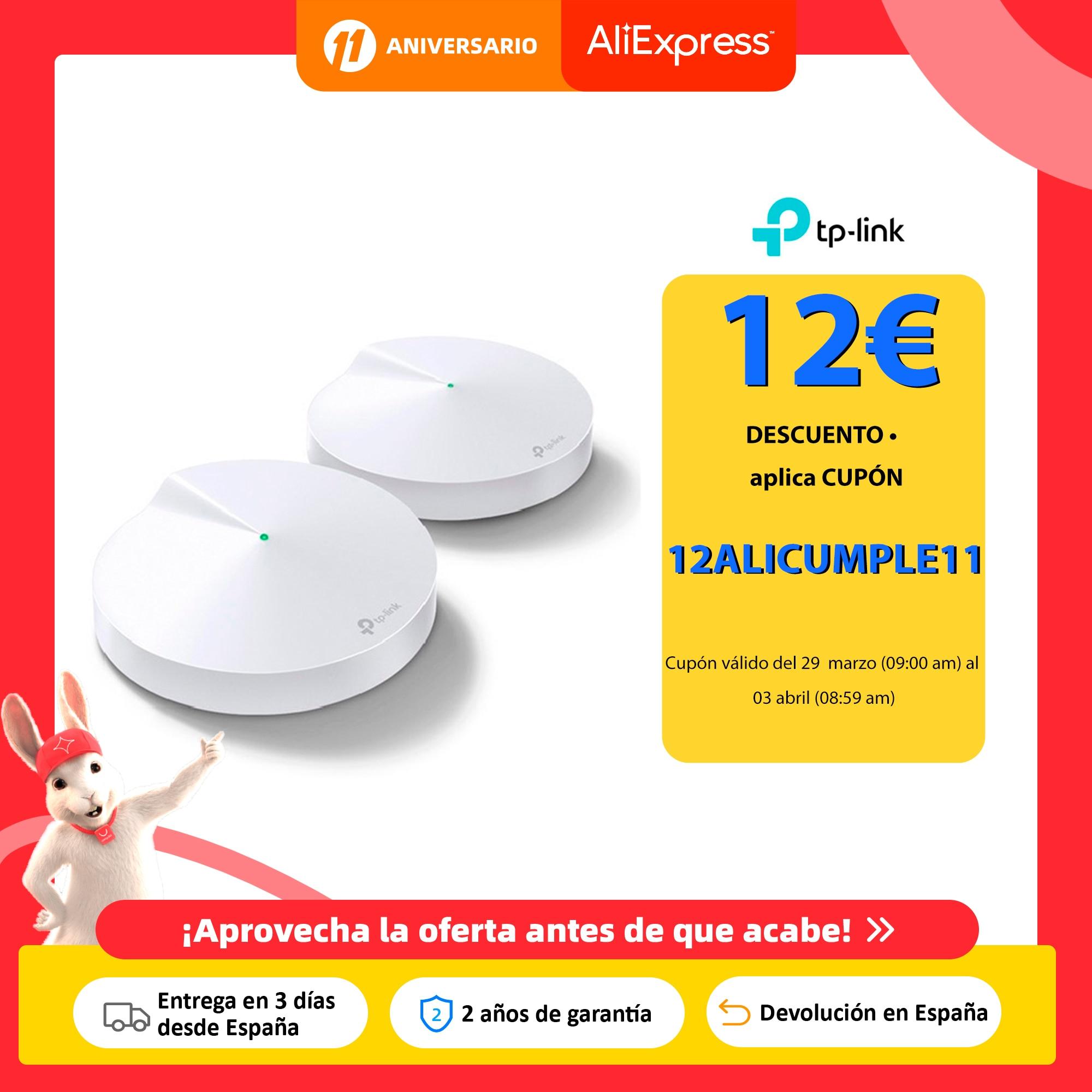 TP LINK Deco M5, Pack 2 Puntos de Acceso, Velocidad Estable Hasta 1267Mbps, Compatible con Alexa, WiFi Mesh, Hasta 200 m2, NUEVO Rúteres inalámbricos  - AliExpress