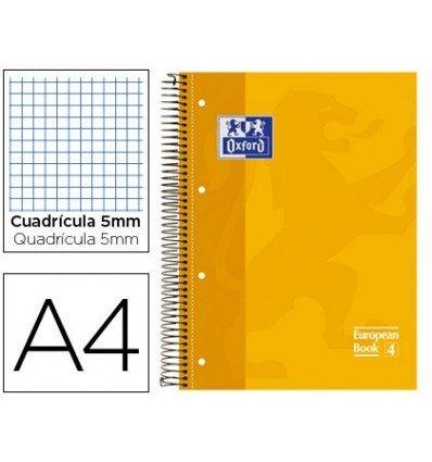 Ofis ve Okul Malzemeleri'ten Dosya Klasör Aksesuarları'de Not defteri SPIRAL OXFORD en EXTRADURA mikroperforated A4 80 yaprak resimleri 5 MM sarı 5 adet title=