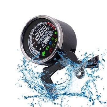 Motorcycle VA LCD Led Multi-Functional Digital Odometer Speedometer Fuel Level Meter Indicator Gauges Instrument Tachometer