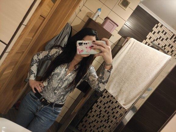Women Long Sleeve Leopard Skin Prinetd Bodysuit Autumn Casual Jumpsuit Bodysuit Slim V Neck Leotard Tops Fashion Slim Bodysuit|Bodysuits|   - AliExpress