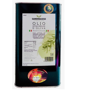 Extra Virgin Olive oil 3 Liters Made in Italy collection Olives from Salento (Puglia)
