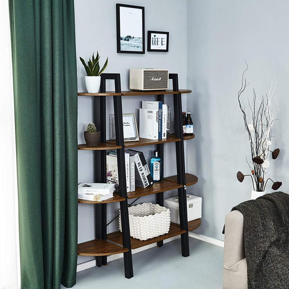 Bookshelf with 4 Tiers Corner Shelf Shelves and Storage ...