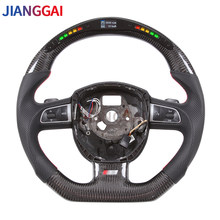 100% Carbon Fiber LED Car Steering Wheel Suitable For Audi S4 A5 2008-2010 Models