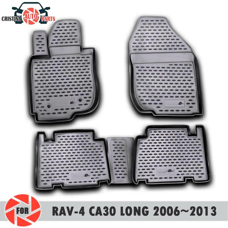 Коврики для Toyota Rav4 Long CA30 2006 ~ 2013 ковры Нескользящие полиуретановые грязезащитные внутренние аксессуары для стайлинга автомобилей