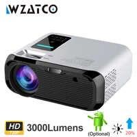 WZATCO E500 3500lumen Wifi Android 9,0 Smart Mini Tragbare LED Projektor Multimedia Home Beamer Unterstützung Full HD 1080P proyector