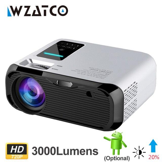 Wzatco E500 3500 ルーメンのwifiアンドロイド 10 スマートミニポータブルledプロジェクターマルチメディアサポートフルhd 1080p proyector