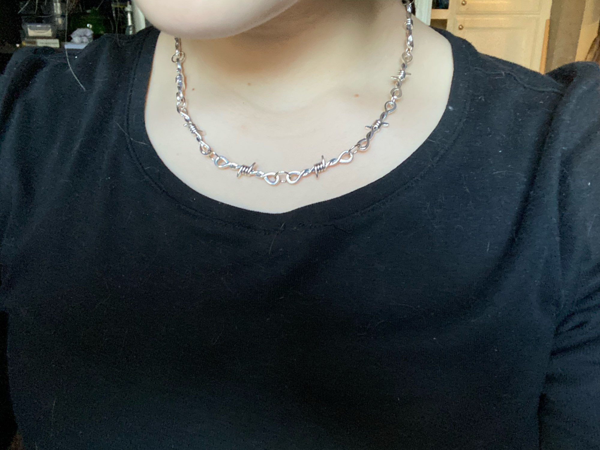 Barbed Wire thorns Choker E-girl photo review