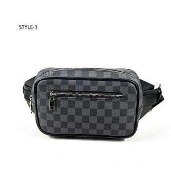 цена на HORIZONPLUS America and europe fashion PLAID GRID Check pattern  waist bag belly bag chest bag fanny pack for men