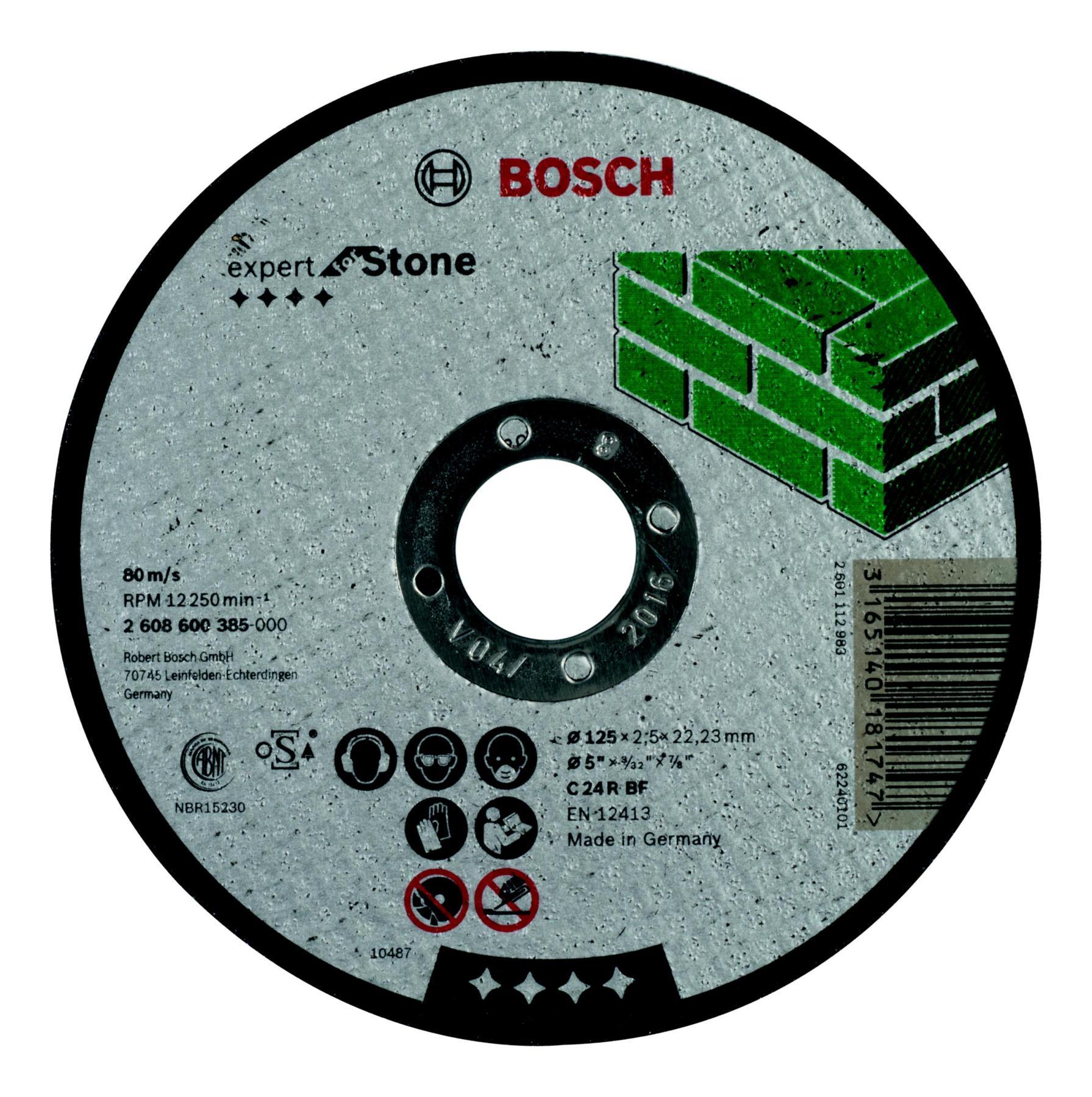 Circle Cutting BOSCH 125х2. 5х22 Expert For Stone (2.608.600.385)