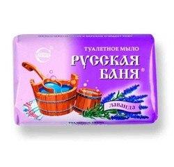 Туалентное мыло  ОРДИНАРНОЕ Русская баня-лаванда