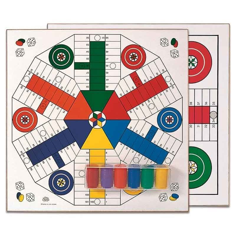 Parcheesi 4 And 6 Players Cayro! 40 Cm Board, Board Games