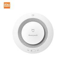Original Xiaomi Mijia Honeywell Detector De Alarme De Incêndio de Alarme Sonoro E Visual de Trabalho Com Porta de Entrada Detector de Fumaça de Controle Remoto de Casa Inteligente