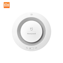Оригинальный Xiaomi Mijia Honeywell детектор пожарной сигнализации звуковая и визуальная сигнализация работа с шлюзом детектор дыма умный дом пульт дистанционного управления
