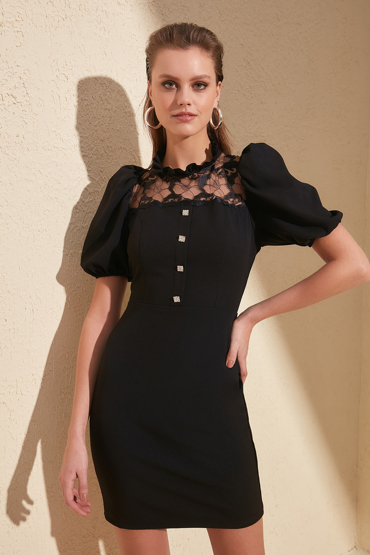 Trendyol Collar Detail Dress TPRSS20EL0764