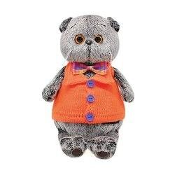 Мягкая игрушка Budi Basa Кот Басик в вязаном жилете, 25 см