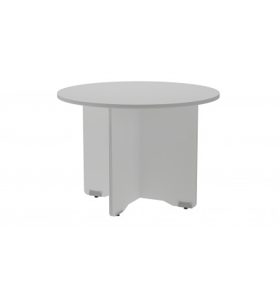 MEETING TABLE ROUND 100CM IN DIAMETER HEIGHT 72CM COLOR: PAW ALUMINUM/GRAY BOARD