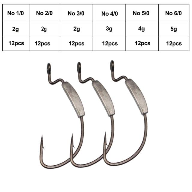 Best KESFISHING Fishing Lead Hook 12pcs Fishhooks cb5feb1b7314637725a2e7: No 1|No 2|No 3|No 4|No 5|No 6