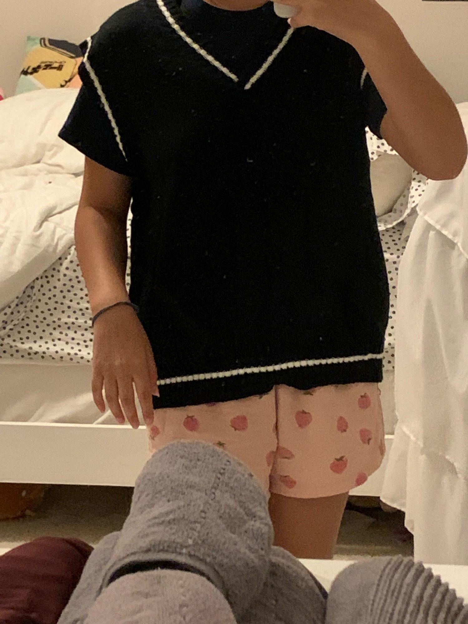Harajuku Grunge E-girl  V-neck Knitted Vest photo review