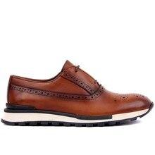 Sail Lakers светло коричневые кожаные мужские повседневные туфли дерби на шнуровке, брендовая Новая мужская обувь 2020, Классические Мужские модельные туфли, кожаные свадебные туфли, мужские деловые кроссовки на плоской подошве