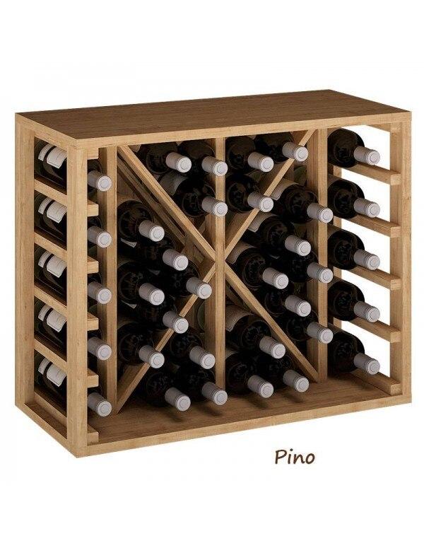 Botellero De Madera División Interior 34 Botellas