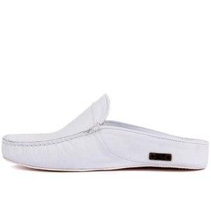 Image 3 - Sail Lakers/мужские тапочки на резиновой подошве из натуральной кожи; Тапочки на плоской подошве; Модные роскошные Лоферы без застежки; zapatos de mujer; женская обувь