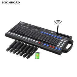 Ultra thin 384CH DMX Controller DMX 512 Console Wireless DMX Receiver Built in Battery Stage Lighting  Moving Head DJ Controller