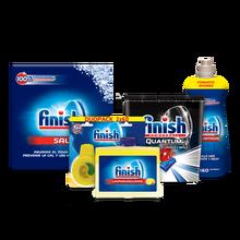 Finish Premium Kit: brightener 800ml+ Limpiamáquinas 250 ml+ Salt 2 kg+ Duplo Deo Lemon+ Quantum Finish 48- dishwasher