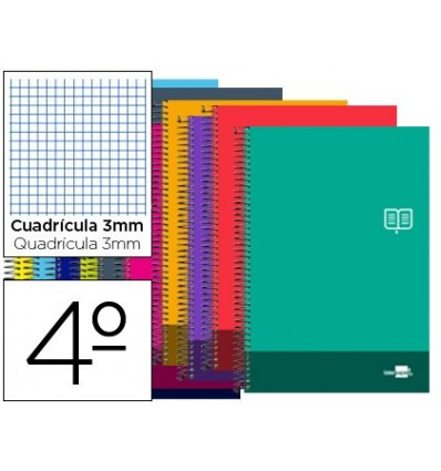 SPIRAL NOTEBOOK LEADERPAPER ROOM DISCOVER SOFTCOVER 80H 80GSM TABLE 3 MM MARGIN COLORS