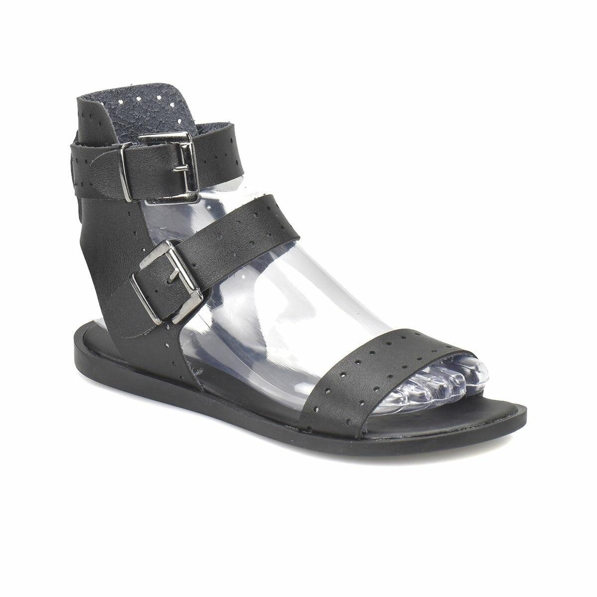 FLO CS18072 Black Women Sandals Art Bella