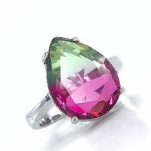 Большая капля камень Александрит золото качество серебряное кольцо