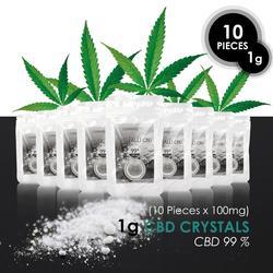 КБР Кристалл 99,99 чистый каннабидиол Сделано в Европе из отборных конопли CO2 экстракция предложение 1 г = 1,000 мг с бесплатной доставкой