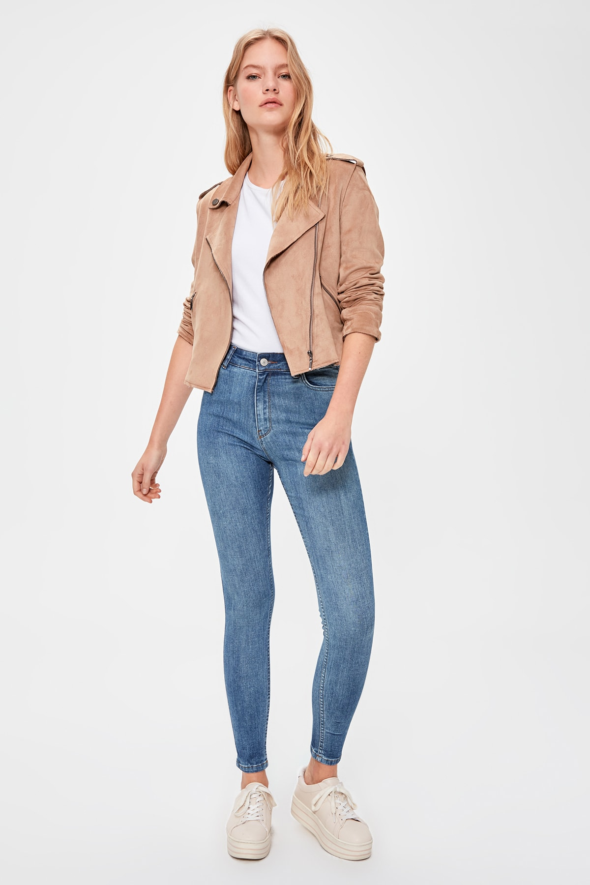 Trendyol High Waist Skinny Jeans TWOAW20JE0314