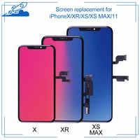 Stopień aaa + + dla iPhone X XR Xs Max 11 ekran dotykowy LCD wyświetlacz tft dla iPhoneX z wymianą zespołu Digitizer nie martwy piksel
