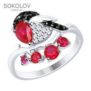 Кольцо «Снегирь» SOKOLOV из серебра с фианитами