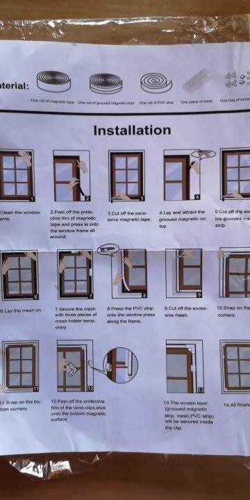 Telas p/ portas e janelas Ajustável Personalizar Janelas