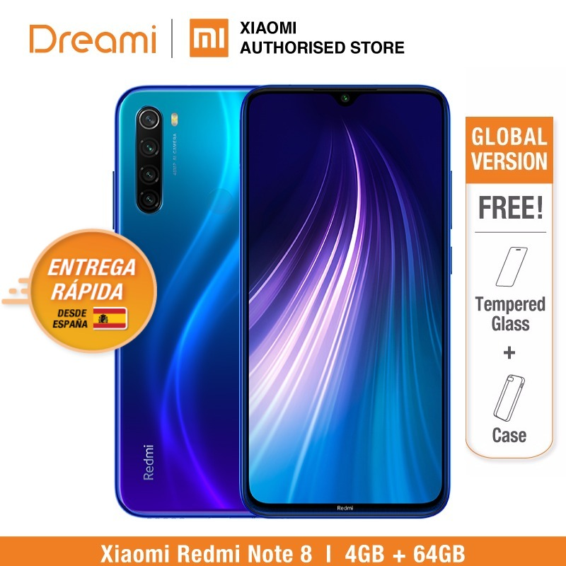 <font><b>Global</b></font> Version <font><b>Redmi</b></font> <font><b>Note</b></font> <font><b>8</b></font> <font><b>64GB</b></font> ROM <font><b>4GB</b></font> RAM (LATEST ARRIVAL!), note8 <font><b>64gb</b></font> Smartphone Mobile image