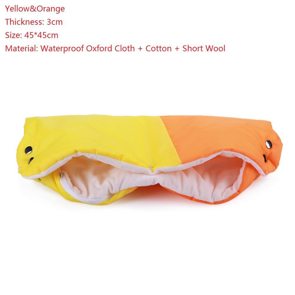Warme/зимние варежки на коляску, ветрозащитные перчатки для новорожденных, непромокаемые флисовые Детские коляски, аксессуары - Цвет: C