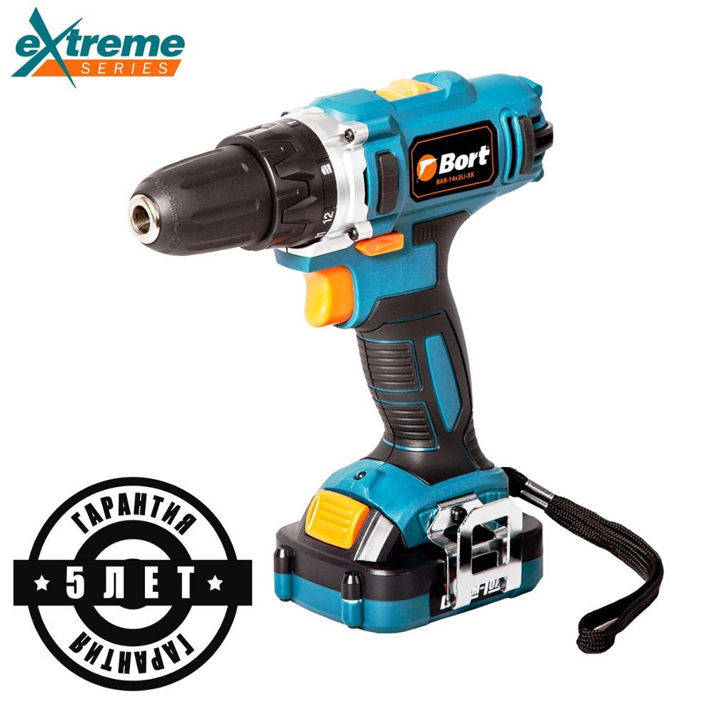 14V Bort Li-Ion Lithium Battery Electric Drill Cordless Screwdriver Mini Drill Cordless Screwdriver Power Tools Cordless Drill B li ion battery electric cordless screwdriver set led light indicator and multi bits sockets