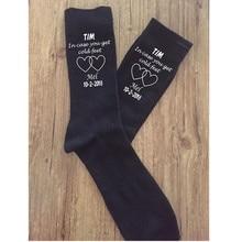 groom wedding socks custom hearts text groomsman socks birth