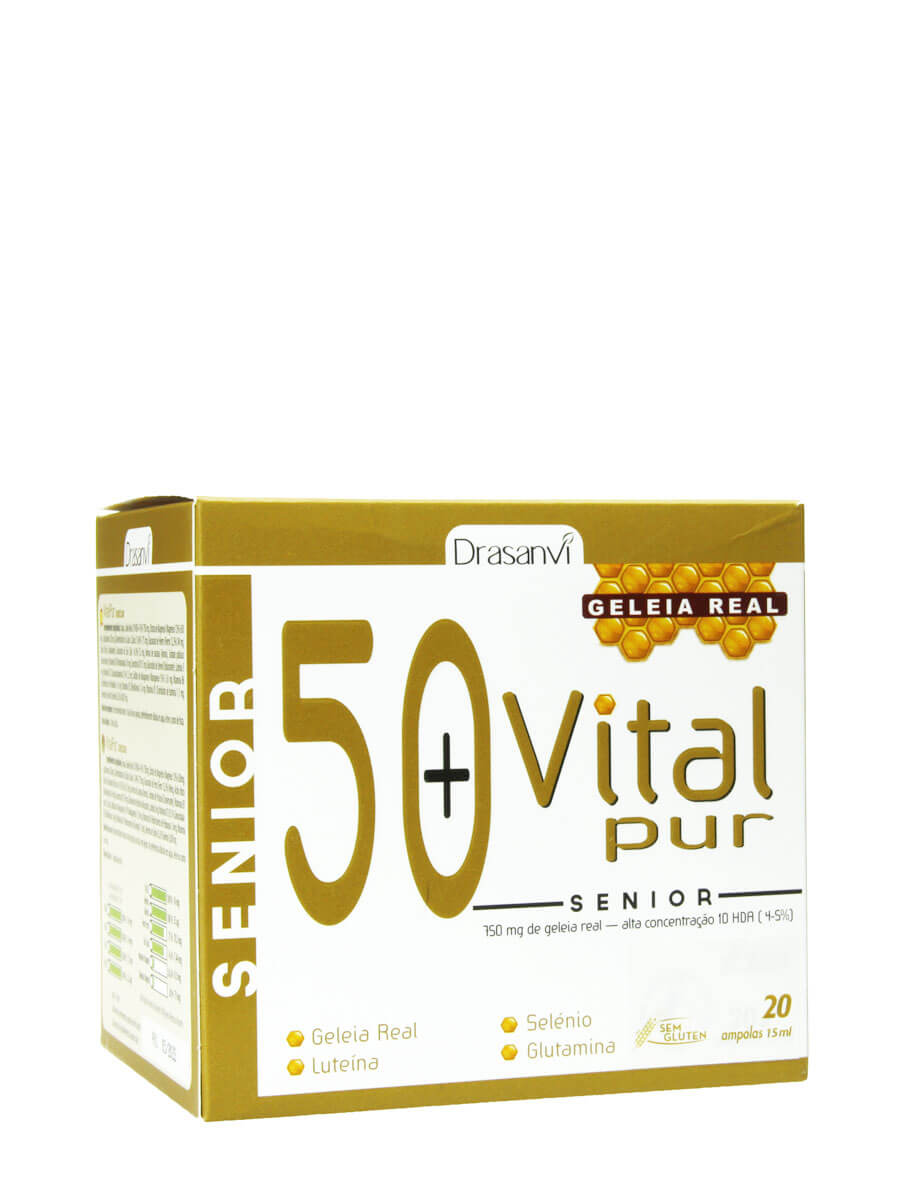 Drasanvi vital pur senior 20 vials food supplement, intended for people over 50 years old