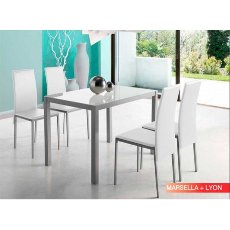 Table Set Marseille 2 Colors 4 Chairs Lion 2 Colors