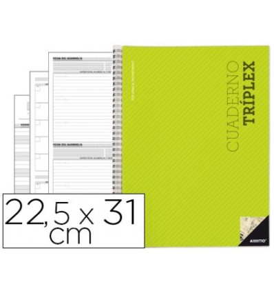 NOTEPAD TRIPLEX ADDITIO DISPOSITIONS COURSE EVALUATION AGENDA WEEKLY DISPOSITIONS AND TUTORIALS TRANSPARENT CASES 22,5X31CM