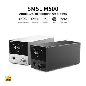 Image 3 - SMSL M500 MQA dac مضخم ضوت سماعات الأذن ES9038PRO فك الصوت USB DAC XU216 DSD512 XMOS محلل شفرة سمعي