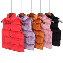 Childrens clothing light round neck stand collar down vest childrens cotton men and women the same