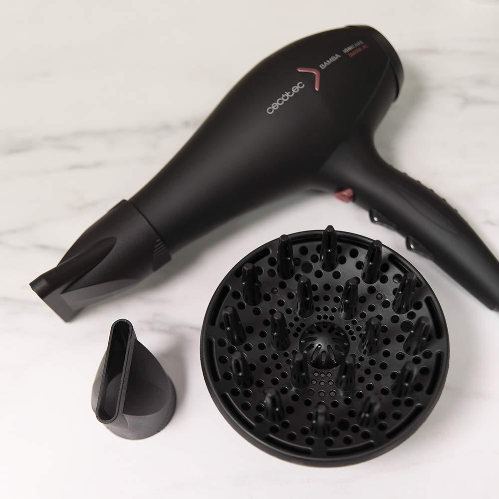 Cecotec Secador de pelo iónico Bamba IoniCare 5350 PowerShine Fire, 2600 W, ajuste de temperatura y velocidad, difusor volumen