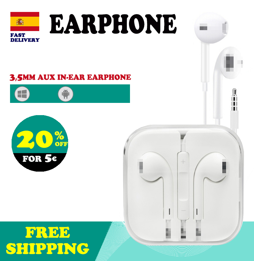 <font><b>Earphones</b></font> <font><b>with</b></font> Cable 1.2m <font><b>with</b></font> <font><b>microphone</b></font> In Ear Earbuds Ergonomic Design for iPhone 6 iPad Android and Computers image