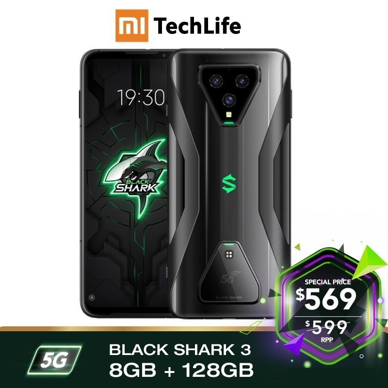 EU Version Xiaomi Black Shark 3 5G 128GB Rom 8GB Ram ,5G Gaming Phone [Newly Launch Promo] Smartphone Mobile Blackshark3