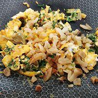 芥辣油煎荠菜蛋的做法图解6