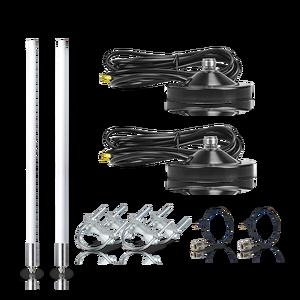 Image 4 - حزمة هوائي من الألياف الزجاجية 5.8dBi, هوائي لlora®+ قاعدة مغناطيسية هوائي